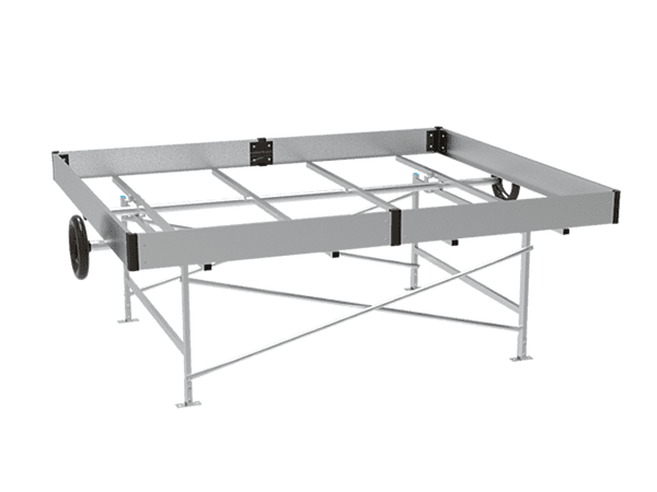 A drawing picture of ebb and flow bench frame.