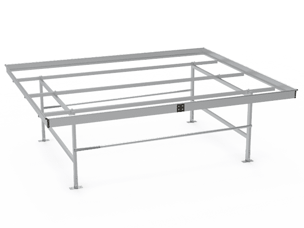 A drawing picture of stationary greenhouse bench frame.