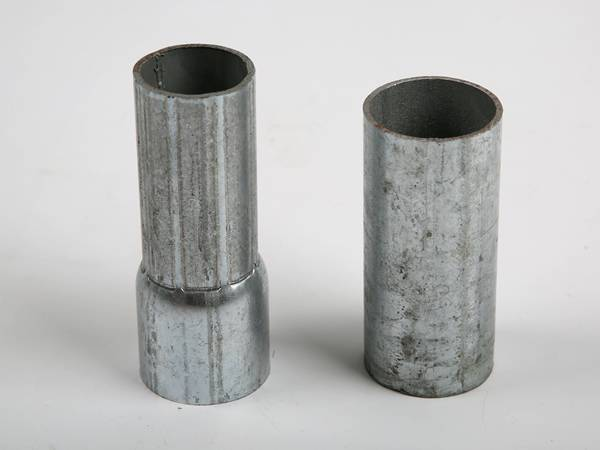 There are two sections of steel tube.